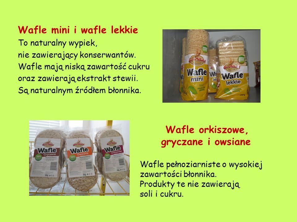 Wafle mini i wafle lekkie