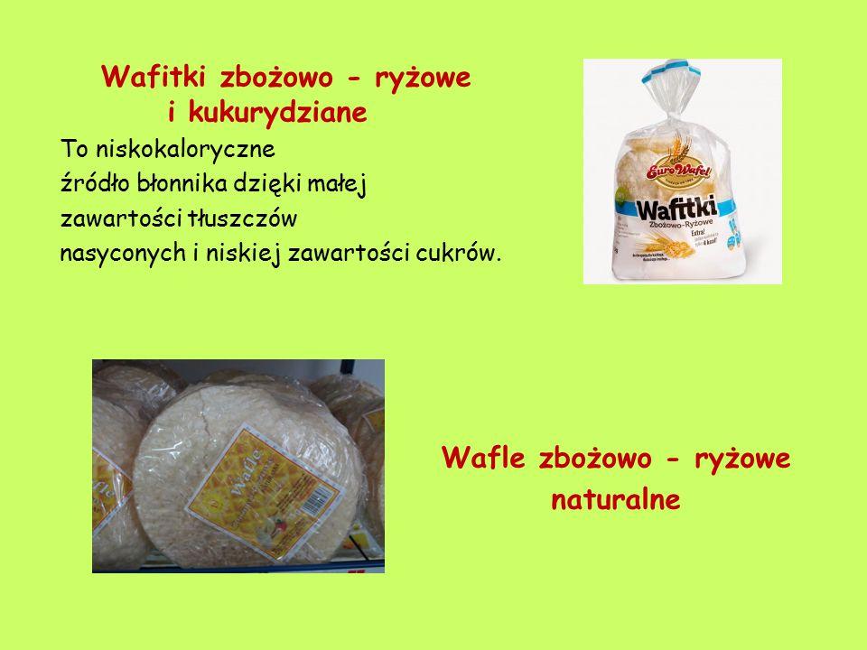 Wafitki zbożowo - ryżowe i kukurydziane