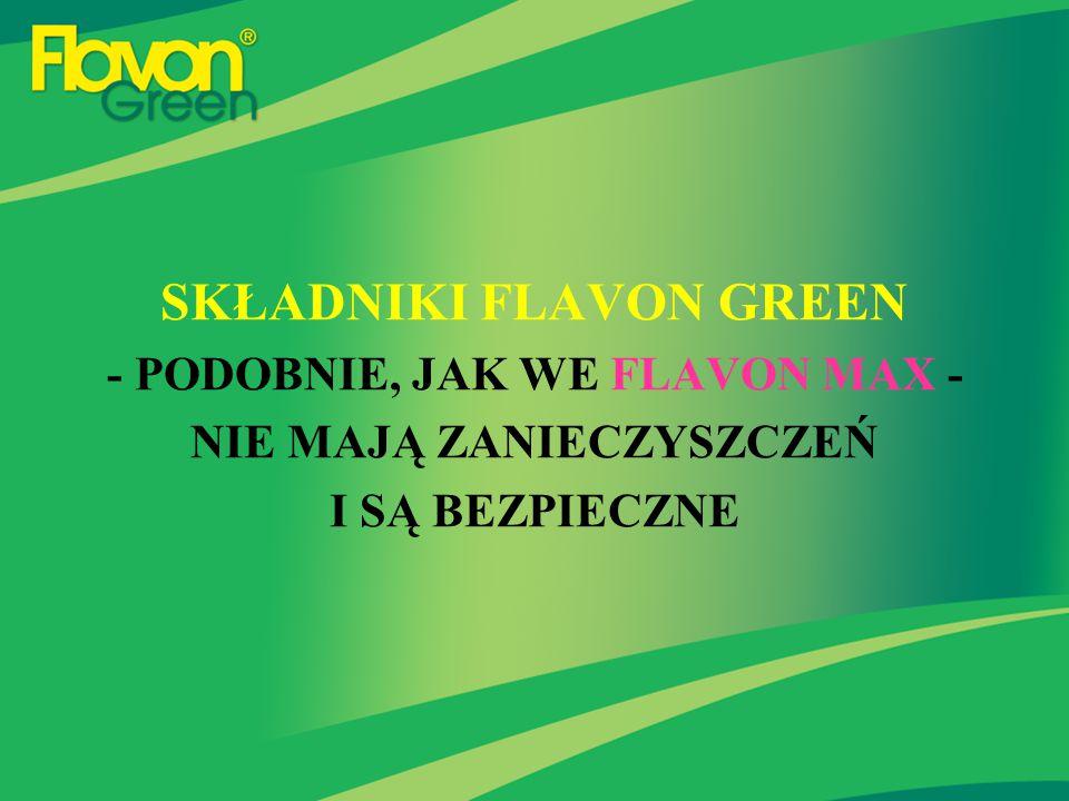 SKŁADNIKI FLAVON GREEN