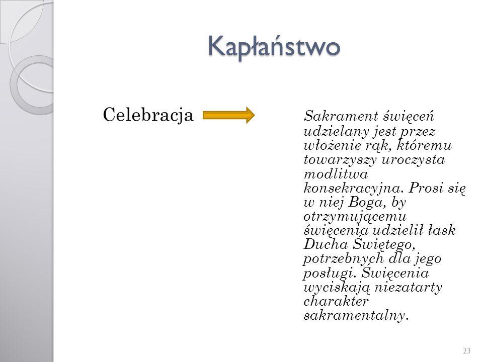 Kapłaństwo Celebracja