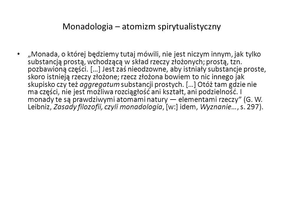 Monadologia – atomizm spirytualistyczny