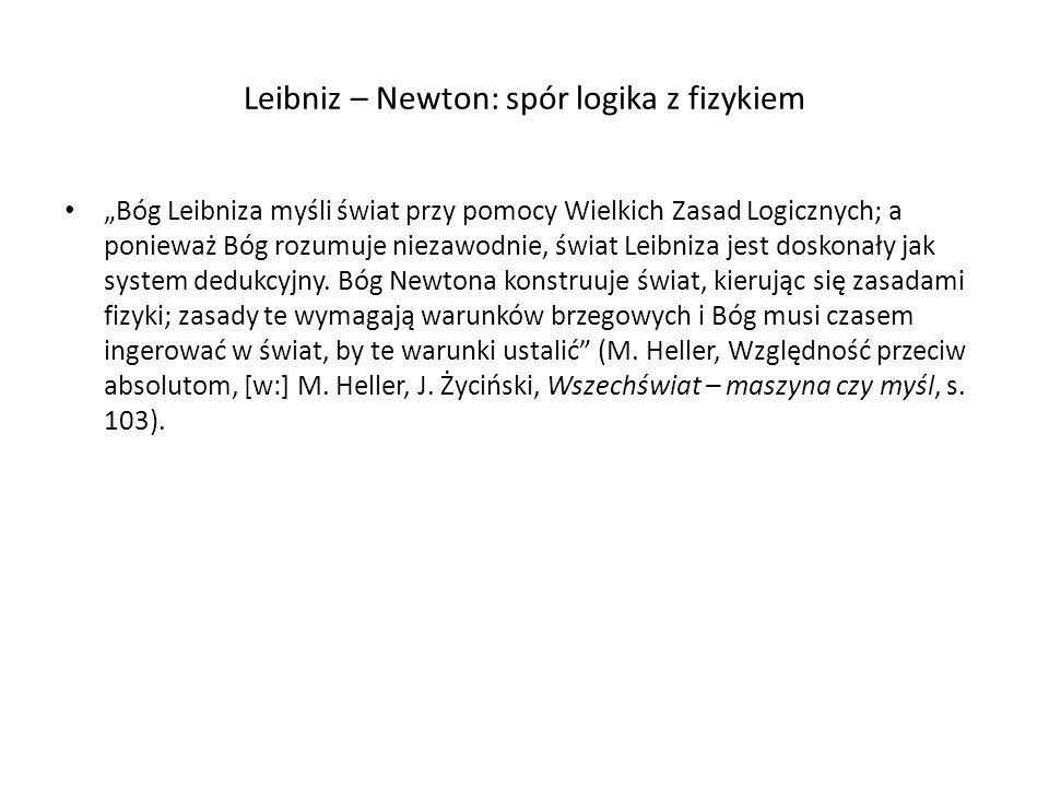 Leibniz – Newton: spór logika z fizykiem