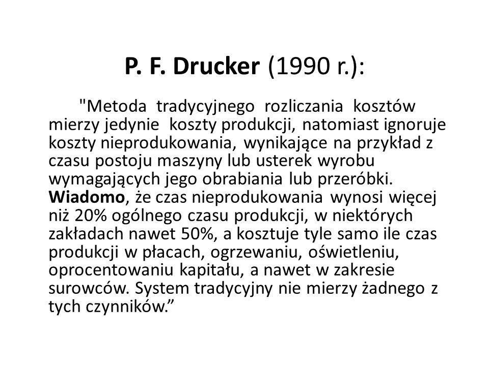 P. F. Drucker (1990 r.):