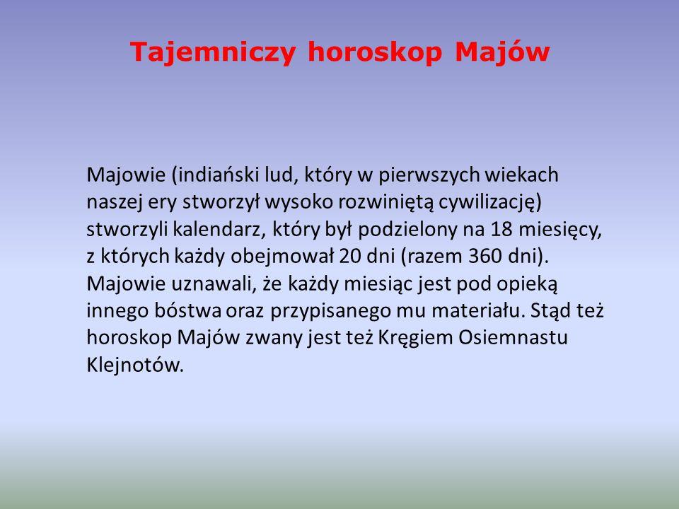 Tajemniczy horoskop Majów