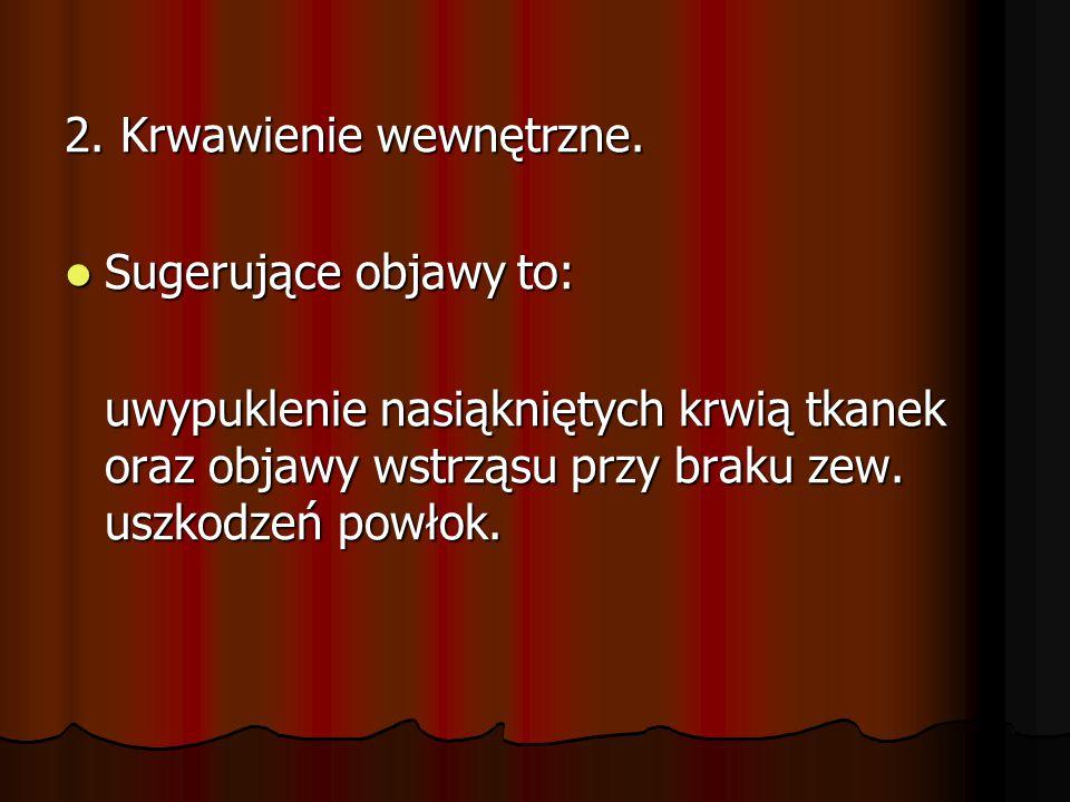 2. Krwawienie wewnętrzne.