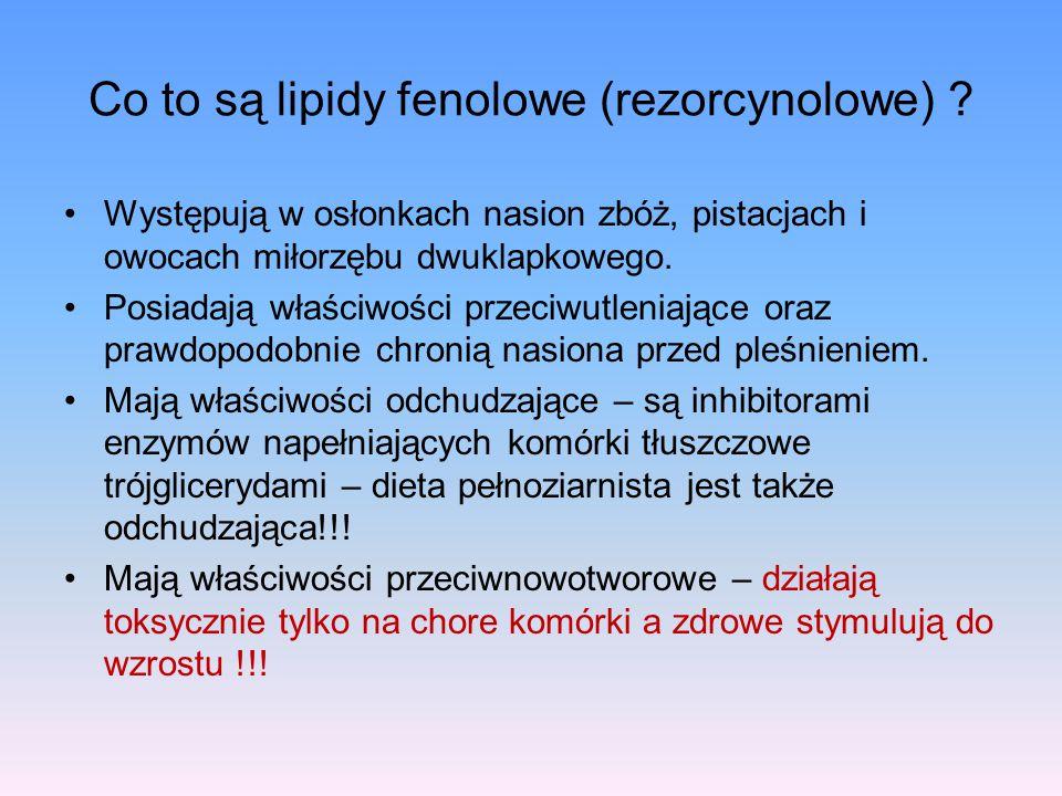 Co to są lipidy fenolowe (rezorcynolowe)