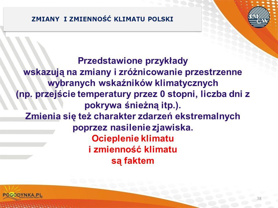 ZMIANY I ZMIENNOŚĆ KLIMATU POLSKI