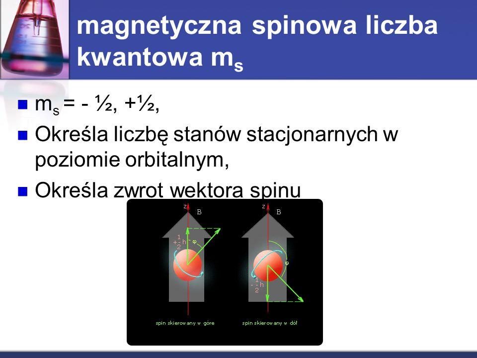 magnetyczna spinowa liczba kwantowa ms