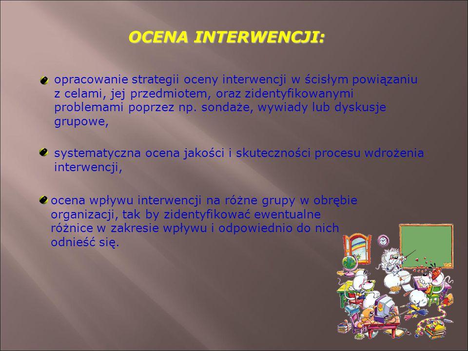 OCENA INTERWENCJI: