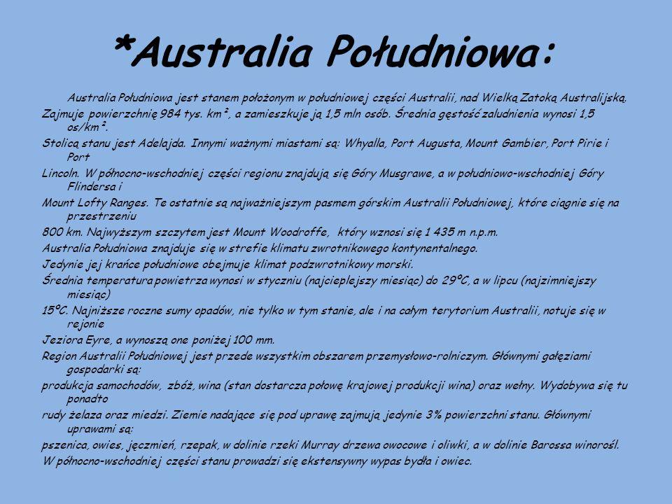 *Australia Południowa: