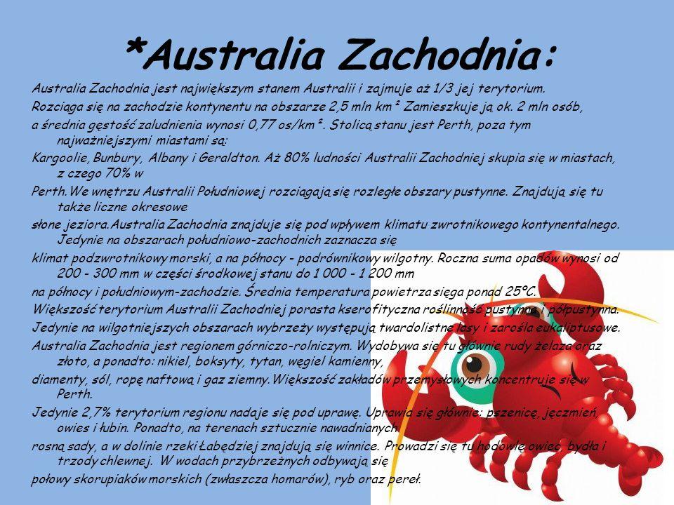 *Australia Zachodnia: