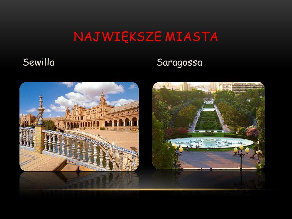 Największe miasta Sewilla Saragossa