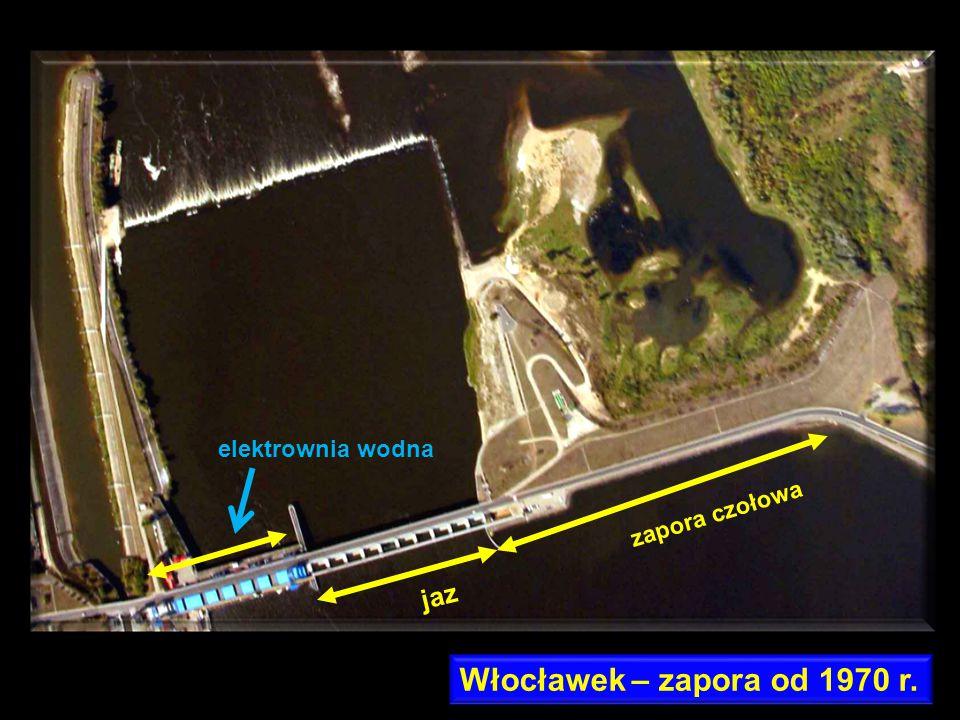 elektrownia wodna zapora czołowa jaz Włocławek – zapora od 1970 r.