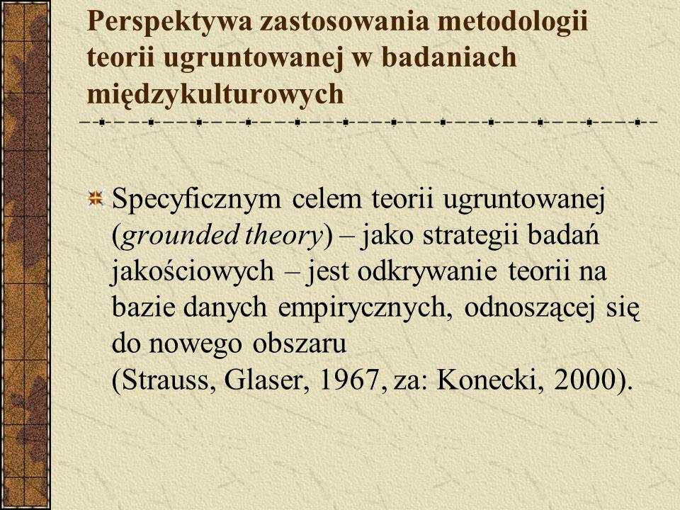 Perspektywa zastosowania metodologii teorii ugruntowanej w badaniach międzykulturowych