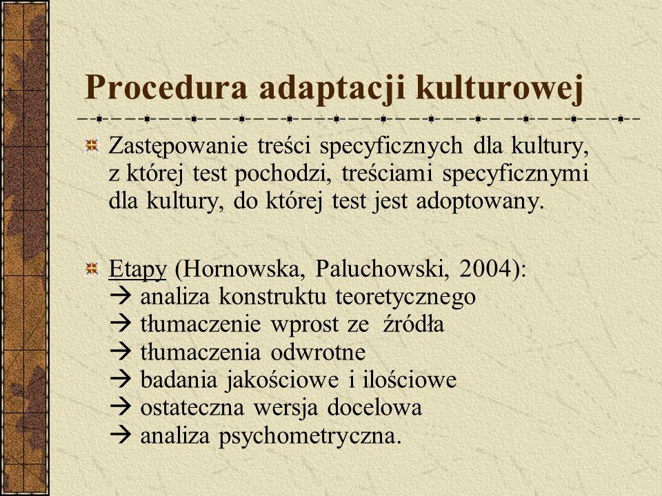 Procedura adaptacji kulturowej