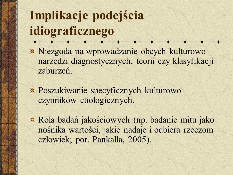 Implikacje podejścia idiograficznego