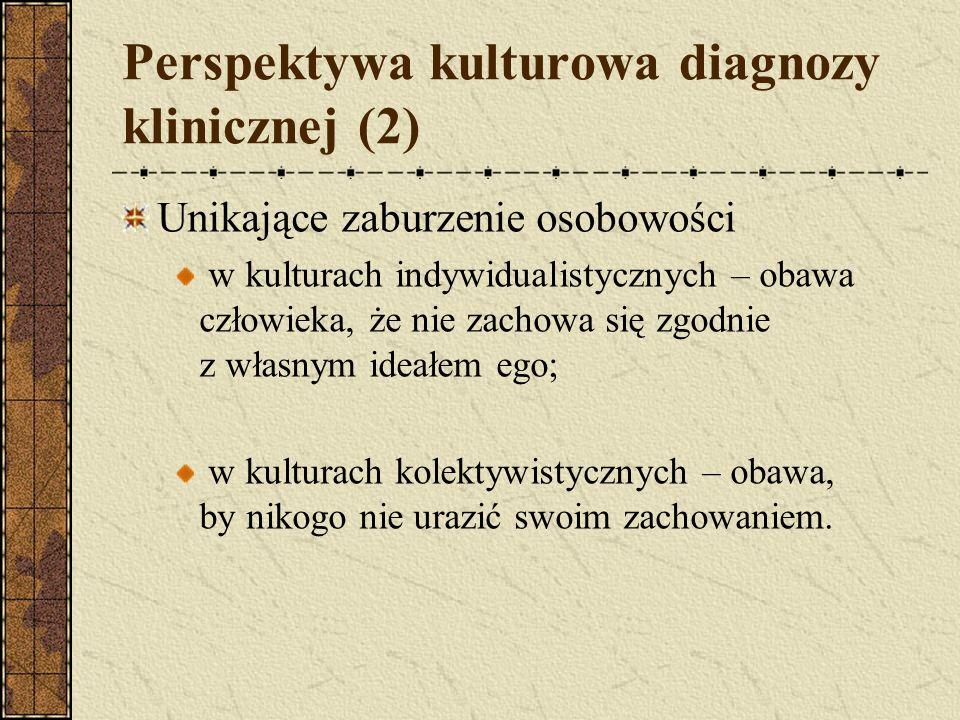 Perspektywa kulturowa diagnozy klinicznej (2)