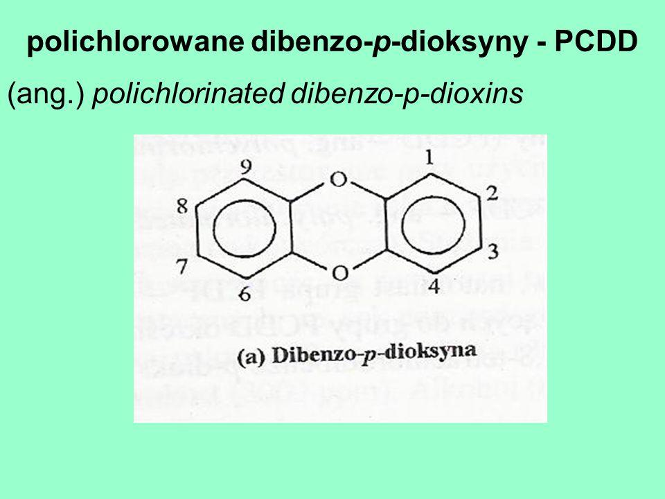 polichlorowane dibenzo-p-dioksyny - PCDD