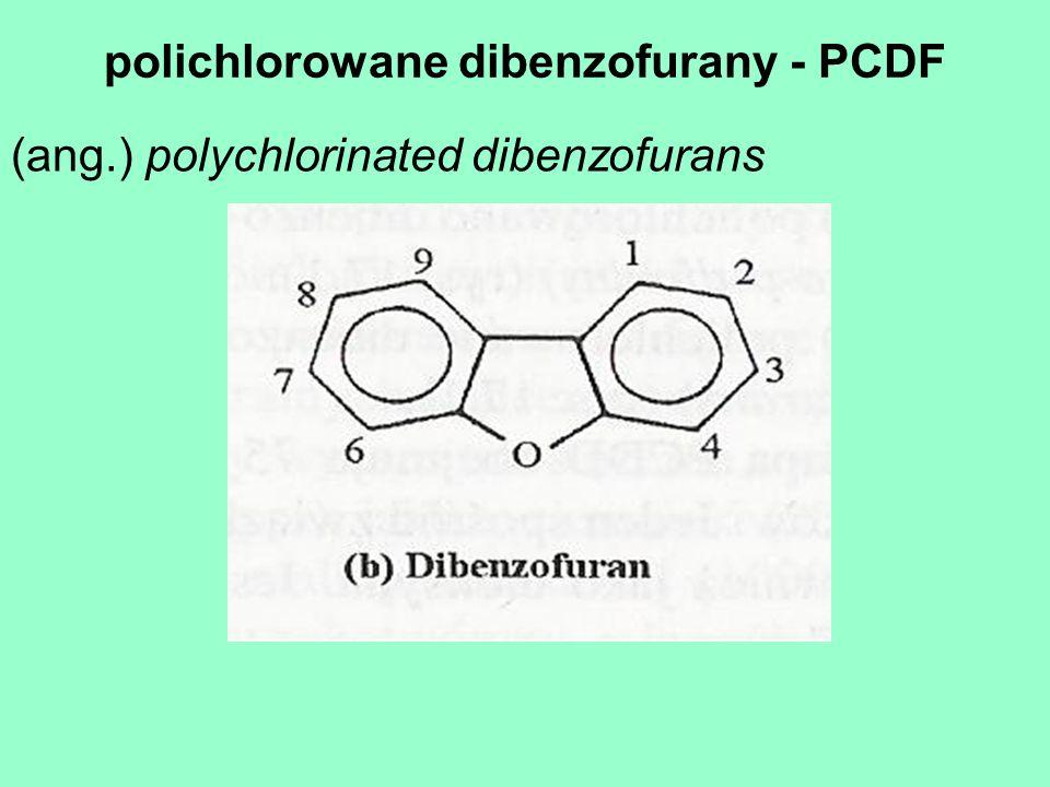 polichlorowane dibenzofurany - PCDF
