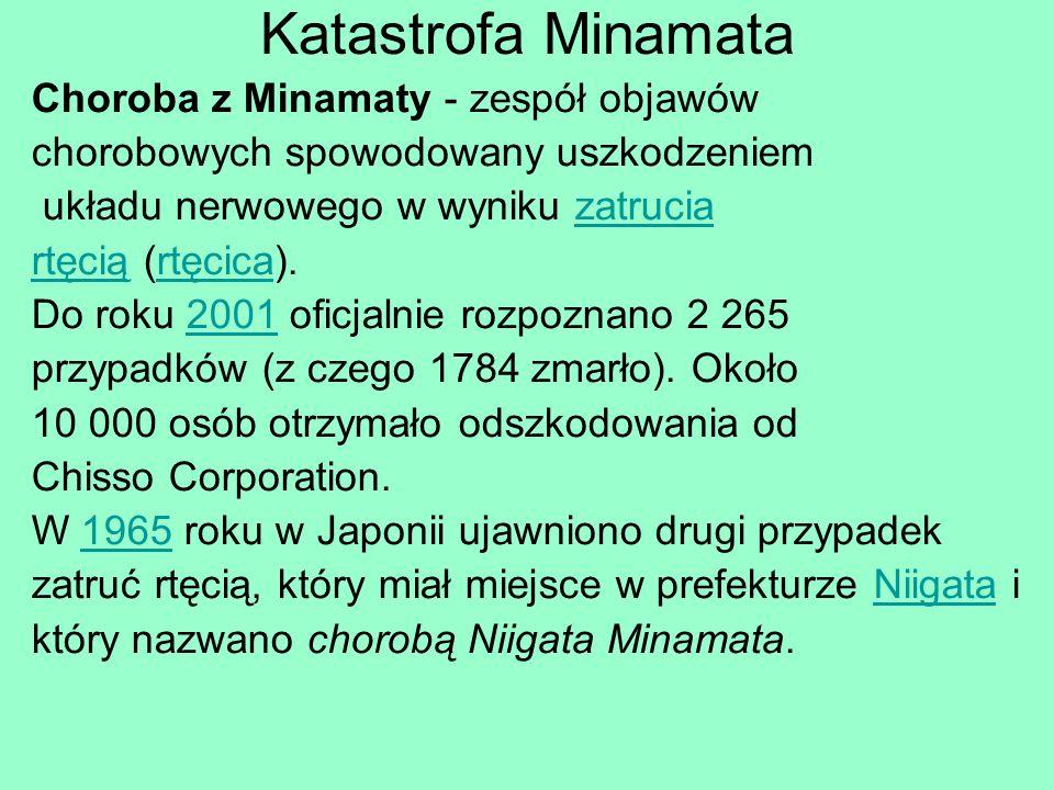Katastrofa Minamata Choroba z Minamaty - zespół objawów