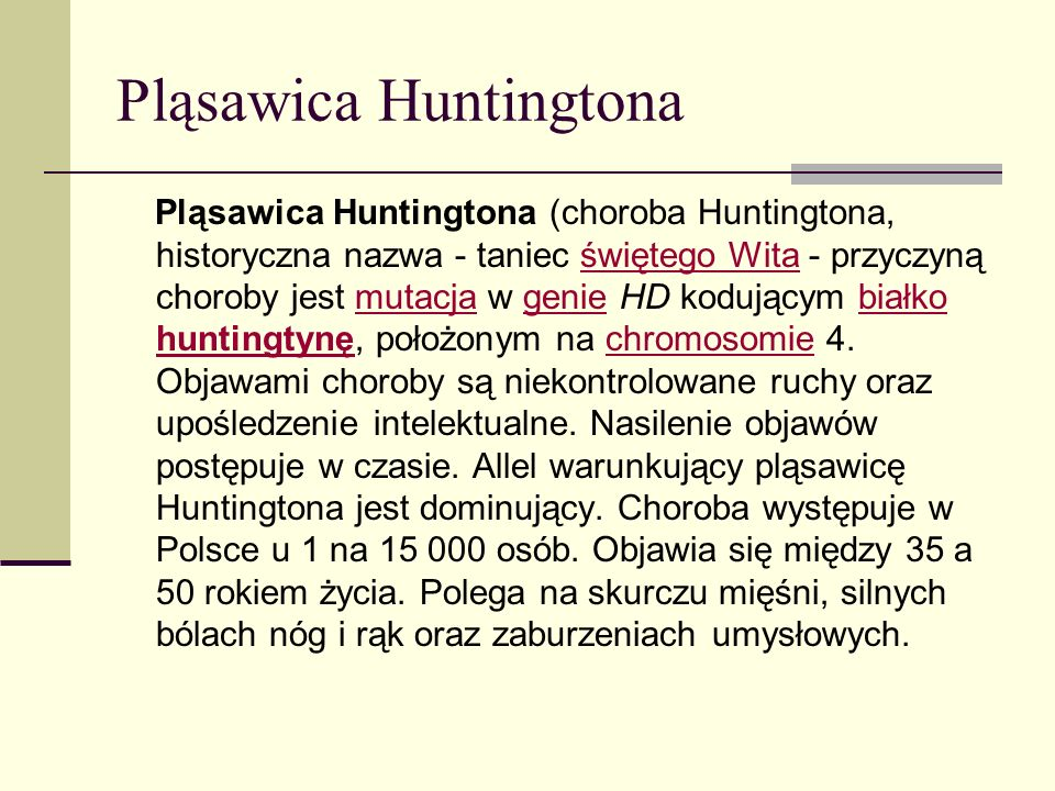 Pląsawica Huntingtona