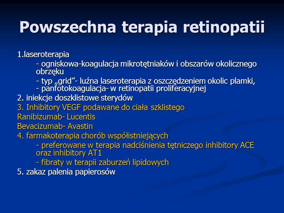 Powszechna terapia retinopatii