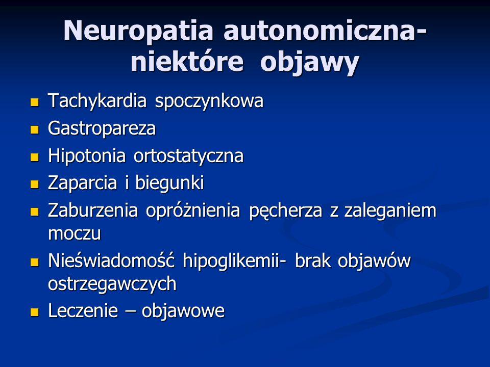 Neuropatia autonomiczna-niektóre objawy