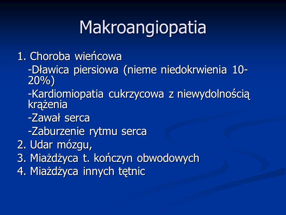 Makroangiopatia 1. Choroba wieńcowa