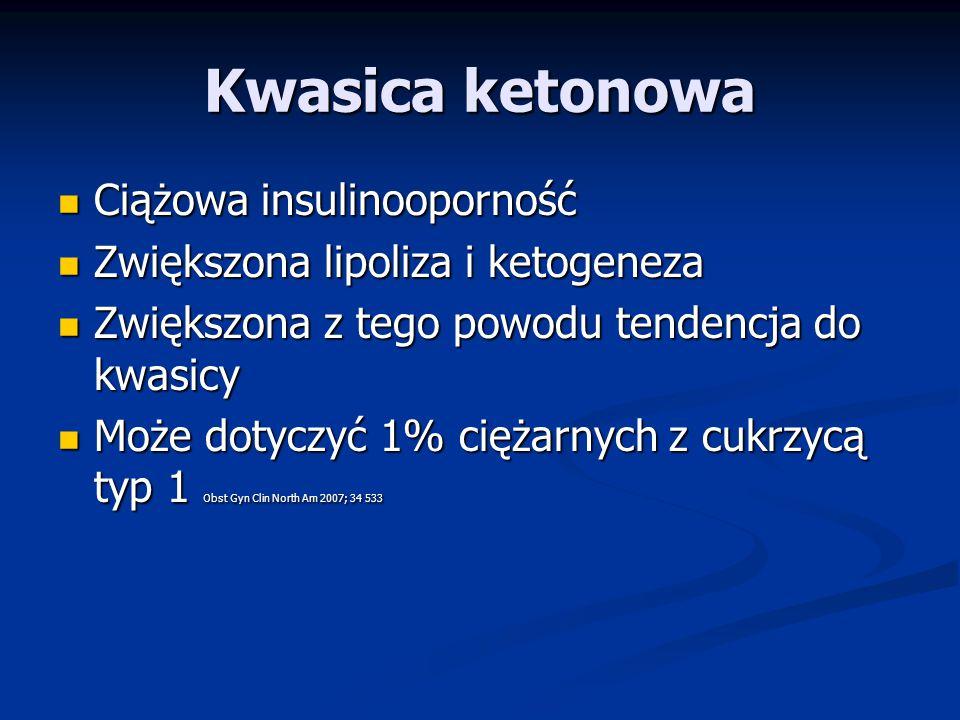 Kwasica ketonowa Ciążowa insulinooporność