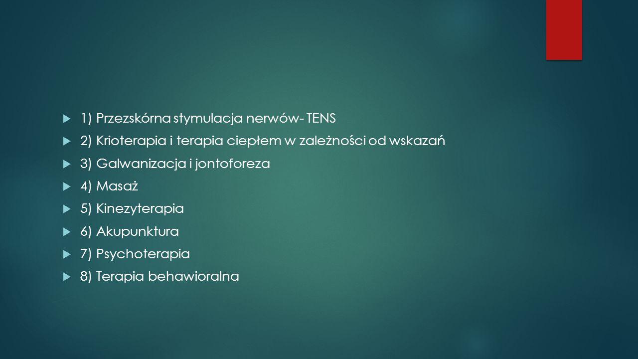 1) Przezskórna stymulacja nerwów- TENS