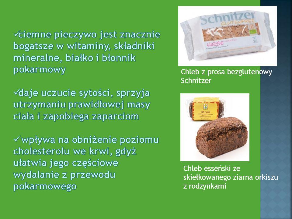 ciemne pieczywo jest znacznie bogatsze w witaminy, składniki mineralne, białko i błonnik pokarmowy