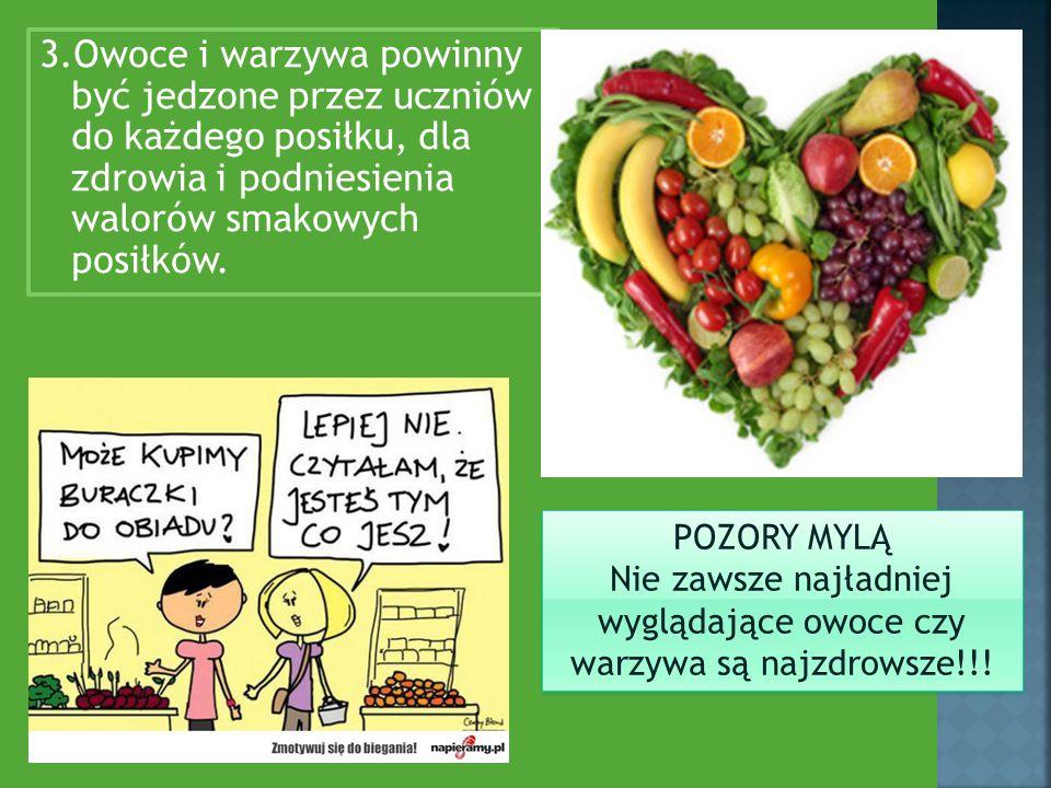 Nie zawsze najładniej wyglądające owoce czy warzywa są najzdrowsze!!!