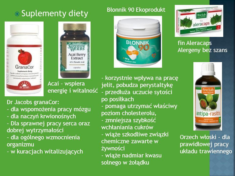 Suplementy diety Błonnik 90 Ekoprodukt fin Aleracaps