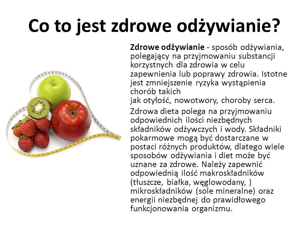 Co to jest zdrowe odżywianie