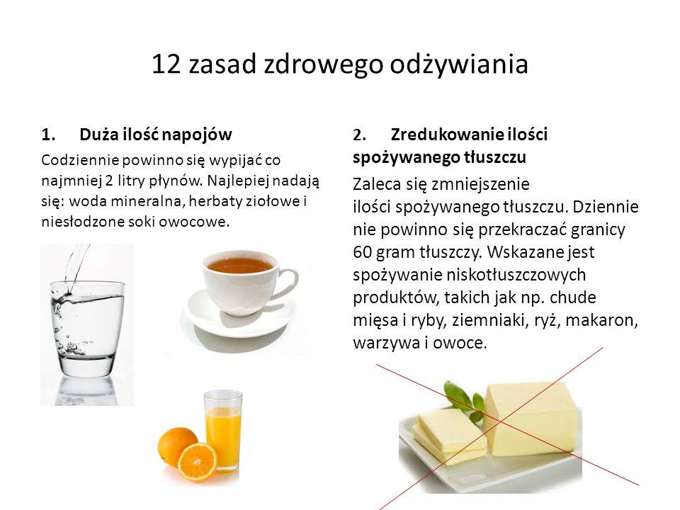 12 zasad zdrowego odżywiania