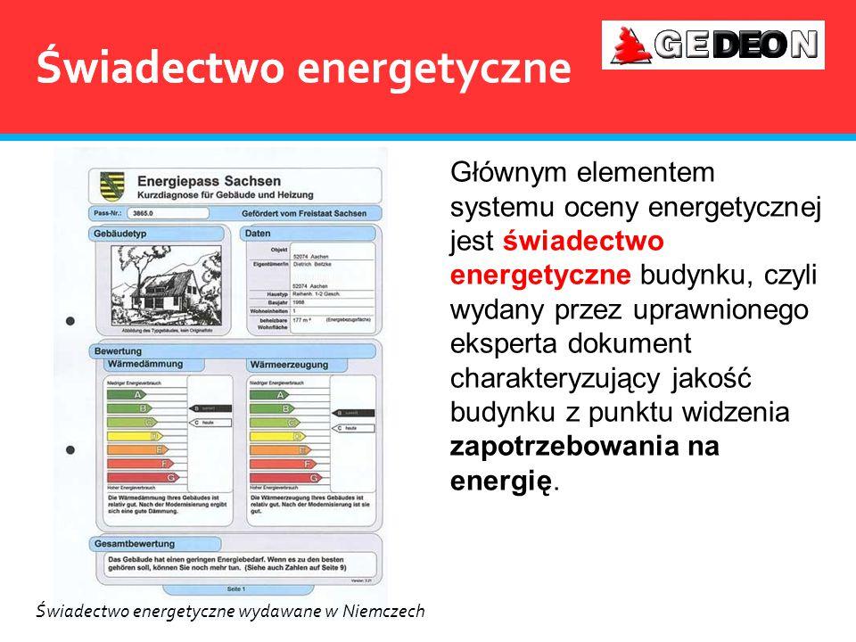 Świadectwo energetyczne