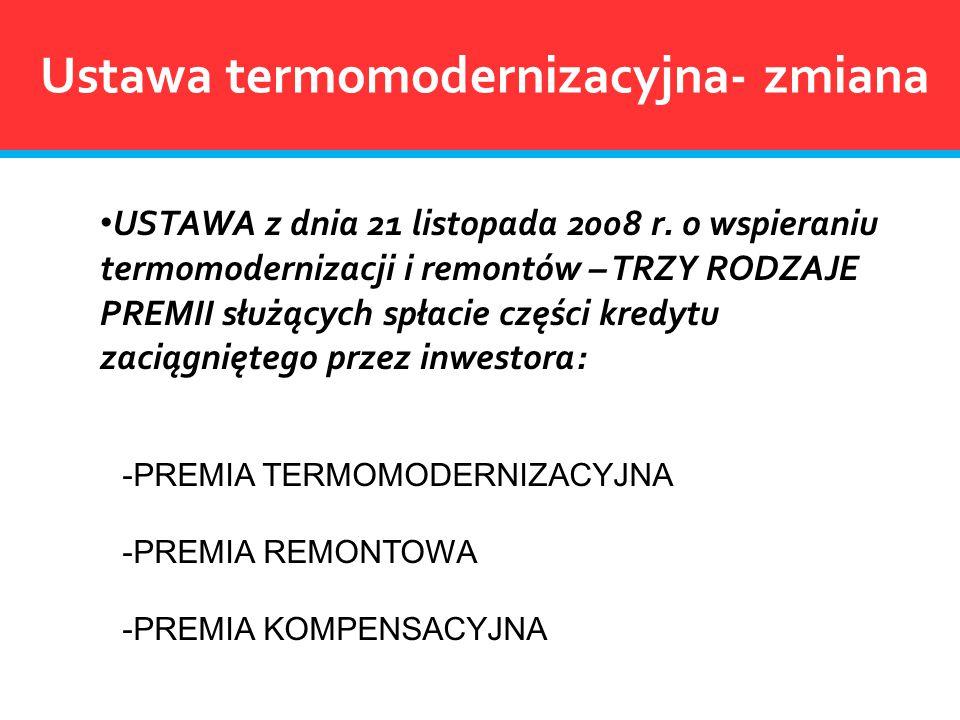 Ustawa termomodernizacyjna- zmiana