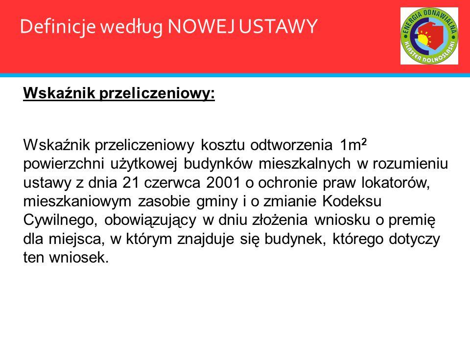 Definicje według NOWEJ USTAWY