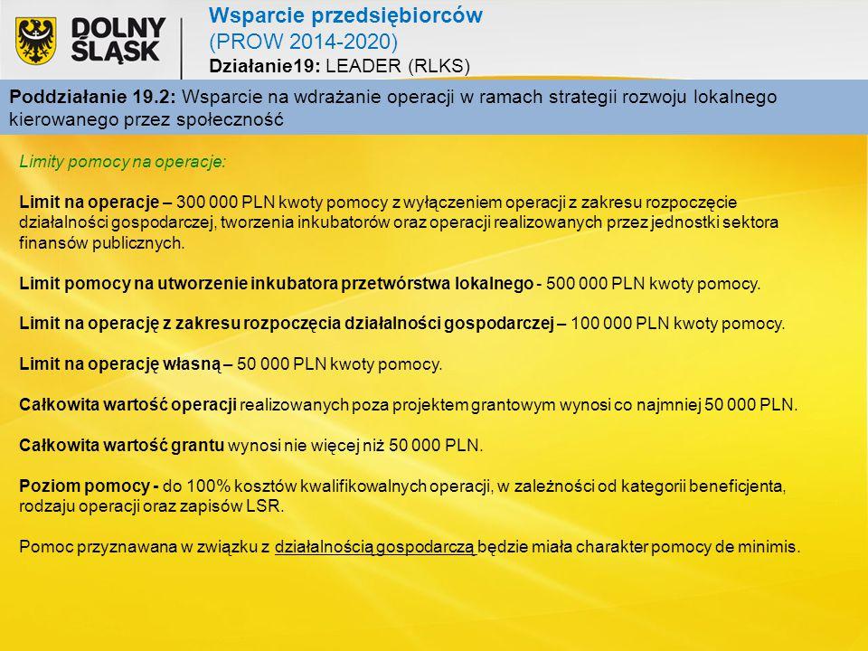Wsparcie przedsiębiorców (PROW 2014-2020)
