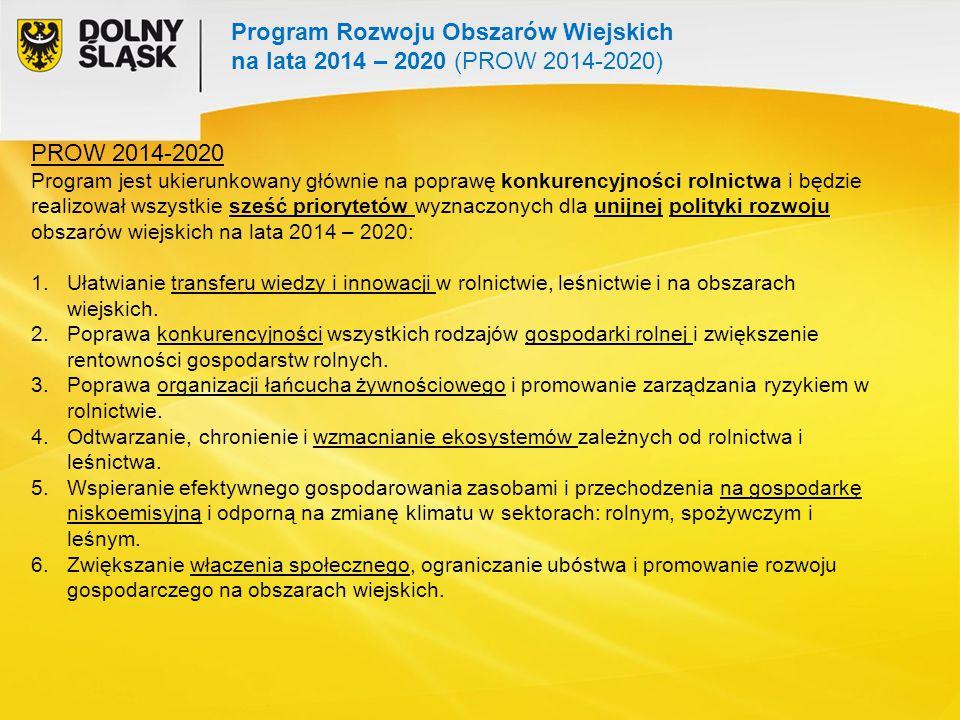 Program Rozwoju Obszarów Wiejskich na lata 2014 – 2020 (PROW 2014-2020)