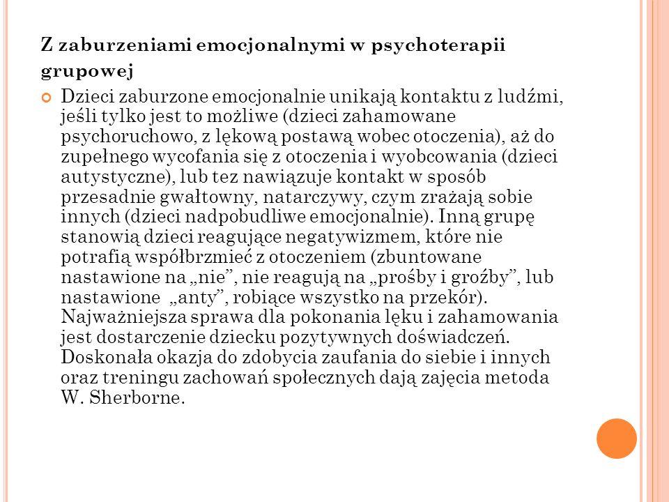 Z zaburzeniami emocjonalnymi w psychoterapii