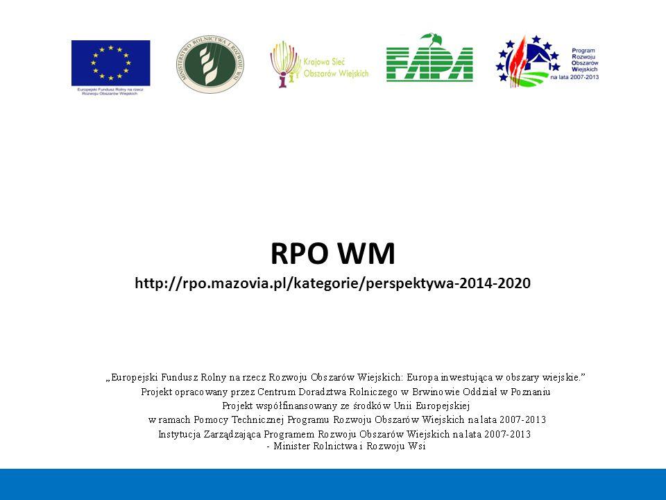 RPO WM http://rpo.mazovia.pl/kategorie/perspektywa-2014-2020 19 19
