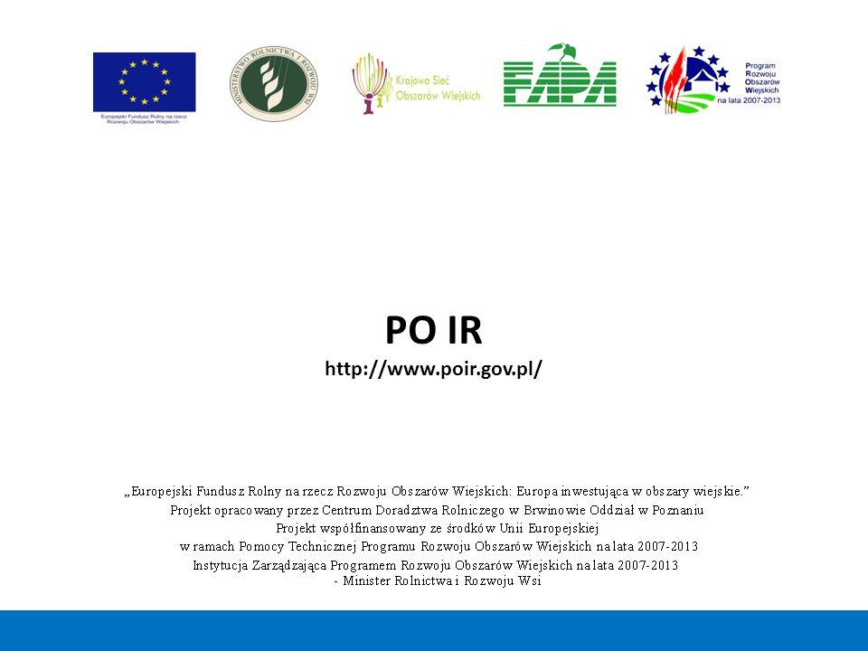 PO IR http://www.poir.gov.pl/ 33 33