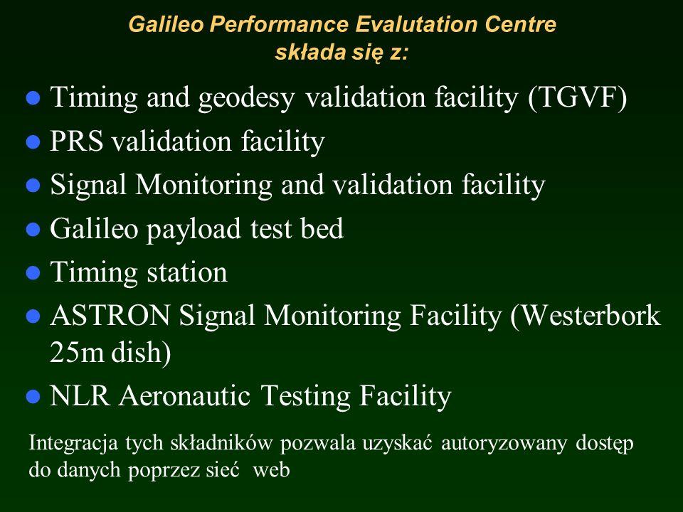 Galileo Performance Evalutation Centre składa się z: