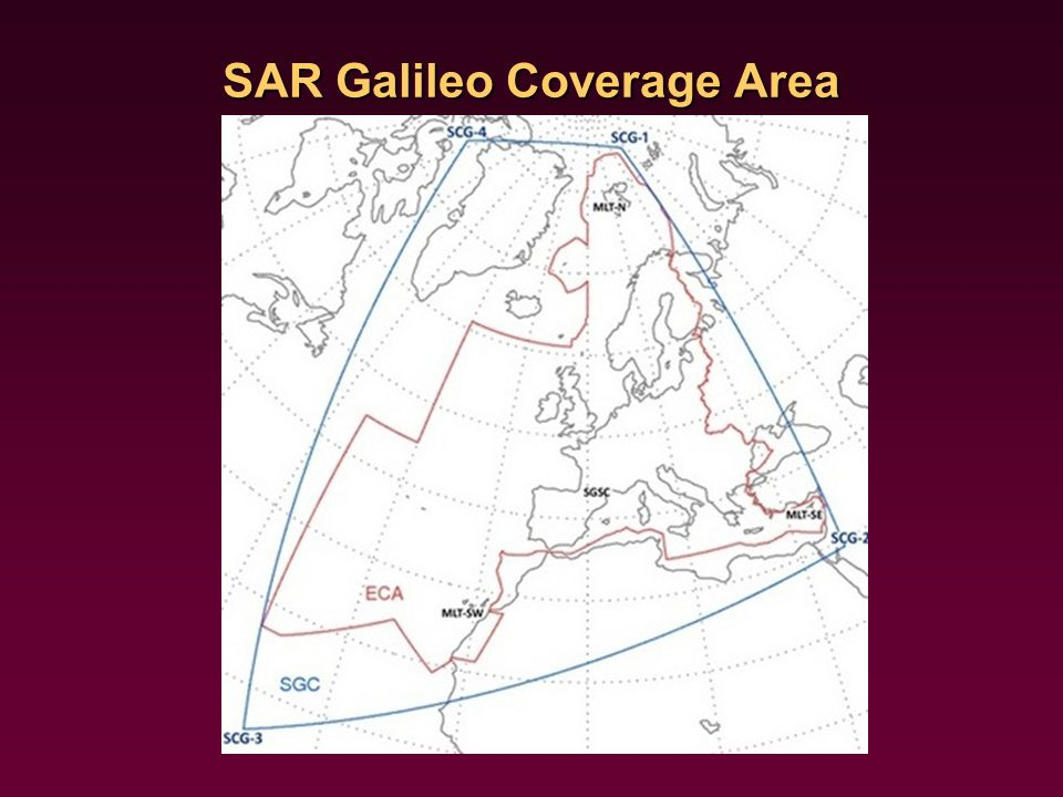 SAR Galileo Coverage Area
