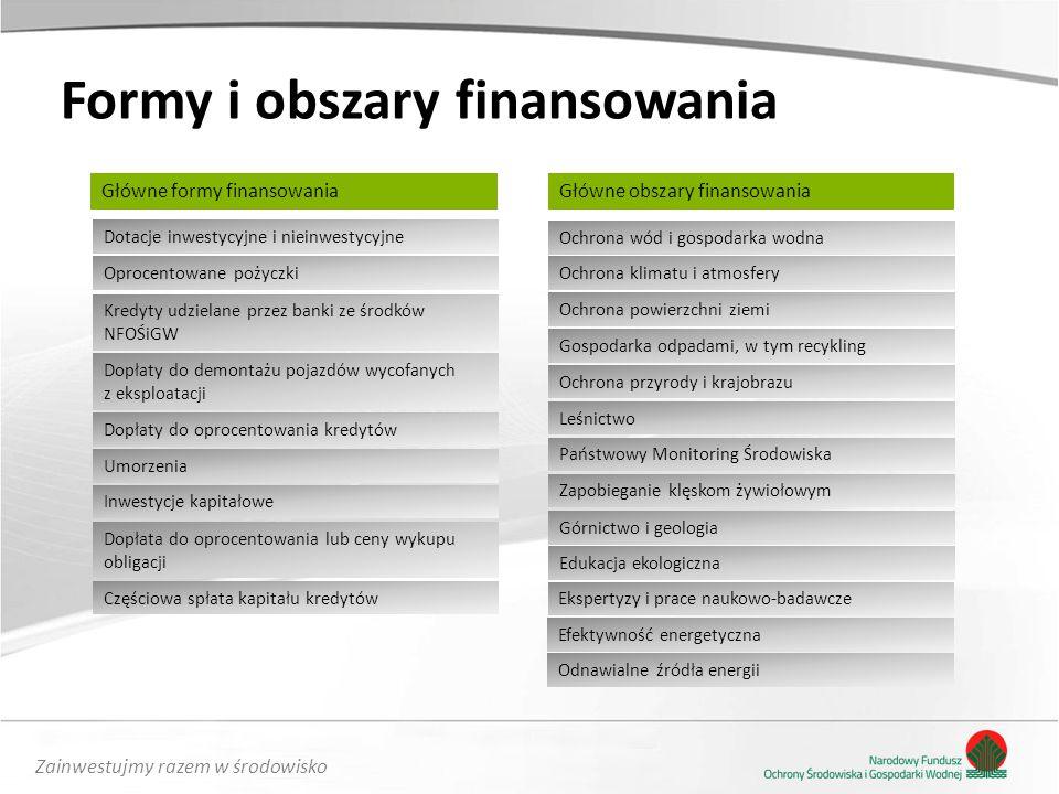 Formy i obszary finansowania
