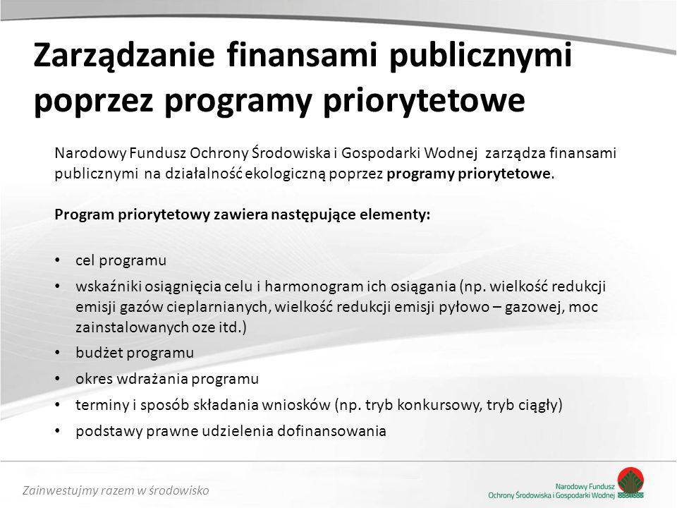 Zarządzanie finansami publicznymi poprzez programy priorytetowe