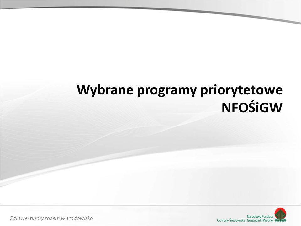 Wybrane programy priorytetowe NFOŚiGW