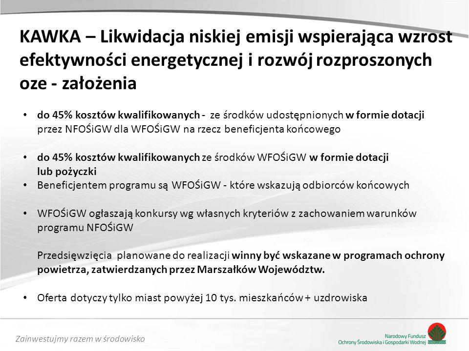 KAWKA – Likwidacja niskiej emisji wspierająca wzrost
