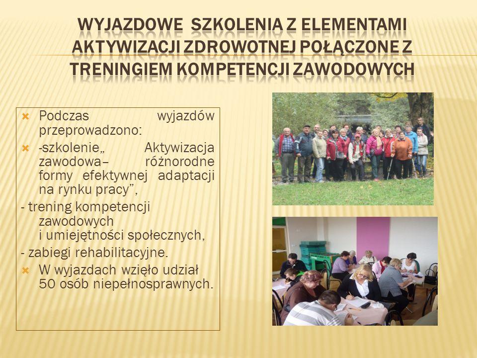 Wyjazdowe szkolenia z elementami aktywizacji zdrowotnej połączone z treningiem kompetencji zawodowych